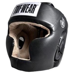 Tuf-Wear T28 Leather Full Face Headguard – Black