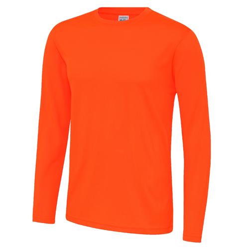 UNBRANDED Long Sleeve Cool Tee – Electric Orange