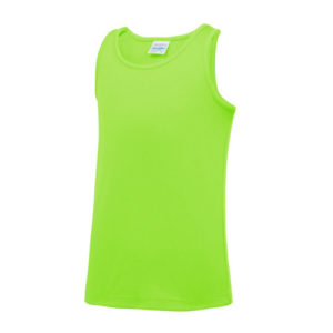 Plain Junior/Kids Classic Cool-Tec Boxing Vest – Electric Green