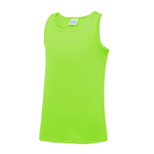 Plain Junior/Kids Classic Cool-Tec Boxing Vest – Electric Green