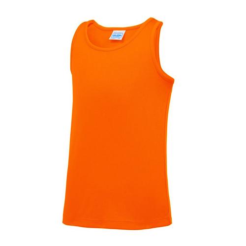 Plain Junior/Kids Classic Cool-Tec Boxing Vest – Electric Orange