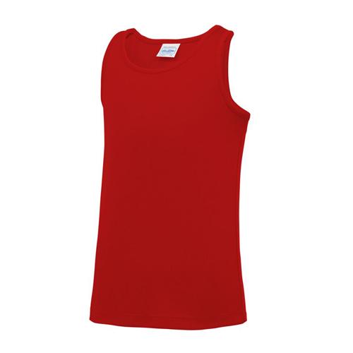 Plain Junior/Kids Classic Cool-Tec Boxing Vest – Red