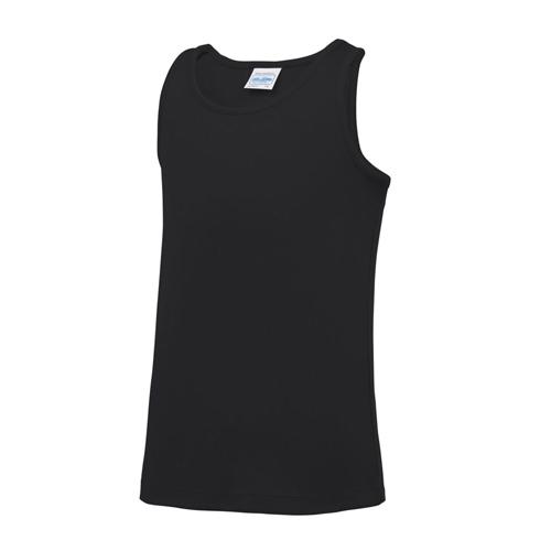 Plain Junior/Kids Classic Cool-Tec Boxing Vest – Black