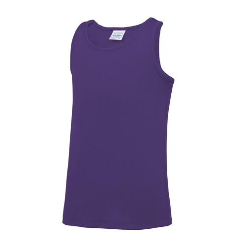 Plain Junior/Kids Classic Cool-Tec Boxing Vest – Purple