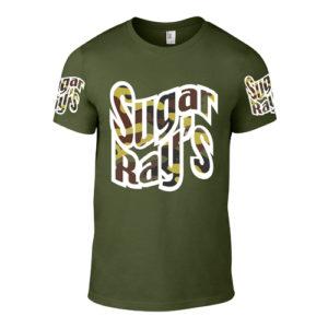 Sugar Ray's T-Shirt – Khaki/Camo Green