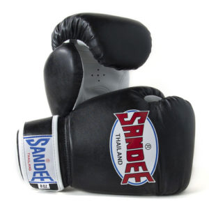 Sandee Junior Authentic Synthetic Leather Boxing Glove – Black/White