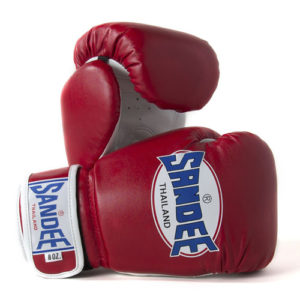 Sandee Junior Authentic Synthetic Leather Boxing Glove – Red/White