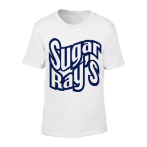 Sugar Ray's Junior T-Shirt with Large Logo – White