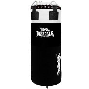 Lonsdale L-60 Big Daddy Leather 4.5ft Punch Bag – Black [65kg/70kg]