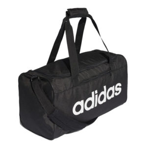 Adidas Linear Core Duffle Gym Bag – Black [Small]