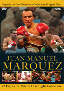 Legends On Disc – Juan Manuel Marquez 42 Fights on 16 DVD'S