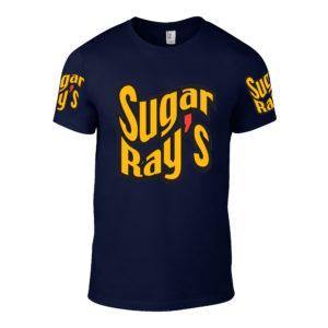 Sugar Ray's T-Shirt – Navy/Yellow/Red