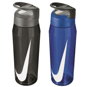 Nike HyperCharge Straw Water Bottle – [Black or Blue, 16oz, 24oz or 32oz]