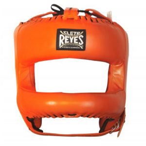Cleto Reyes Headguard with Rounded Nylon Bar – Orange