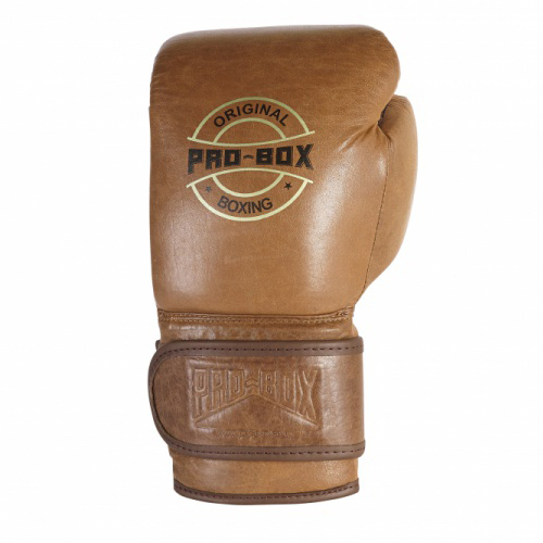 Pro-Box 'Original Collection' Leather Sparring Gloves and Headguard Set – Brown