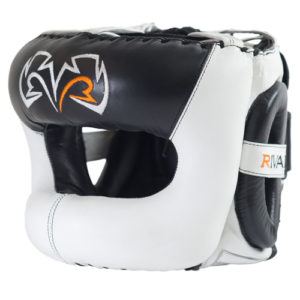 Rival Guerrero Facesaver Headgear – White/Black