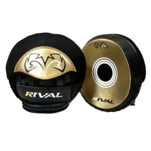 Rival RPM5-Parabolic Punch Mitts – Black/Gold