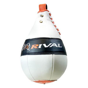 Rival Boxing Speed Bag – White/Black/Orange