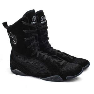 "Rival RSX-ONE ""Classic"" Hi-Top Boxing Boots – Black/Black"