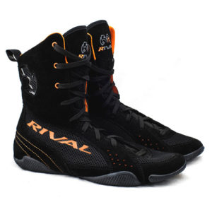 "Rival RSX-ONE ""Classic"" Hi-Top Boxing Boots – Black/Orange"