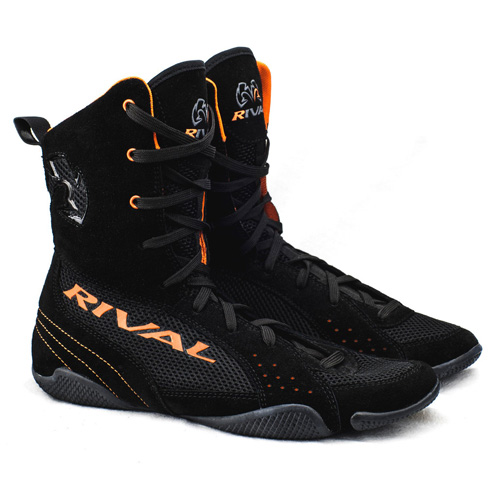 "Rival RSX-ONE ""Classic"" Hi-Top Boxing Boots – Black/Orange"