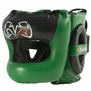 Rival Guerrero Facesaver Headgear – Black/Green