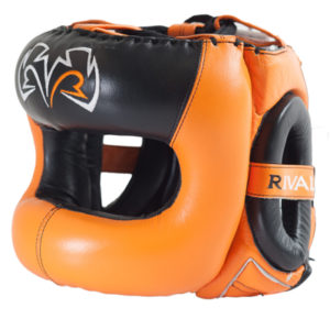 Rival Guerrero Facesaver Headgear – Orange/Black
