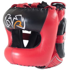 Rival Guerrero Facesaver Headgear – Red/Black