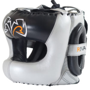 Rival Guerrero Facesaver Headgear – Silver/Black