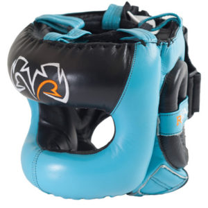 Rival Guerrero Facesaver Headgear – Aqua Blue/Black