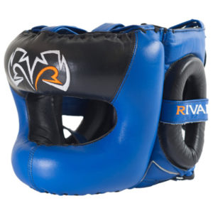 Rival Guerrero Facesaver Headgear – Blue/Black