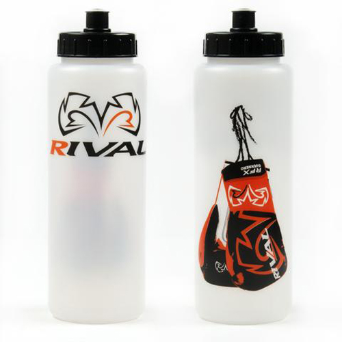 Rival Water Bottle – Clear with Boxing Gloves