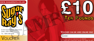 Sugar Ray's £10.00 Online Gift Voucher