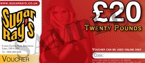 Sugar Ray's £20.00 Online Gift Voucher