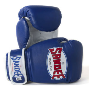 Sandee Junior Authentic Synthetic Leather Boxing Glove – Blue/White