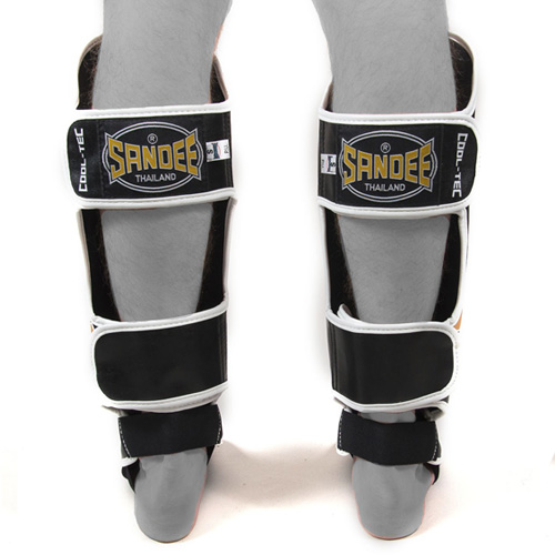 Sandee Cool-Tec Leather Boot Shinguard – Black/White/Red