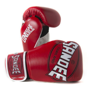 Sandee Cool-Tec Leather Sparring Glove – Red/White/Black