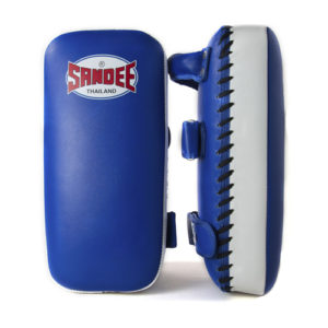 Sandee Large Extra Thick Flat Thai Kick Pads – Blue/White