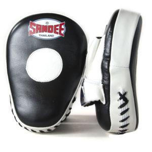 Sandee Leather Curved Focus Mitt – Black/White