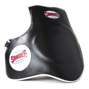 Sandee Leather Full Body Pad/Protector – Black/White