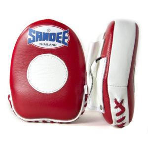 Sandee Leather Mini Focus Mitt – Red/White