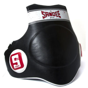 Sandee Sport Black & White Synthetic Leather Full Body Pad