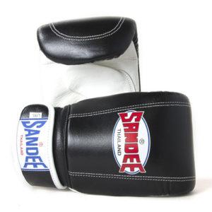 Sandee Leather Bag Glove – Black/White