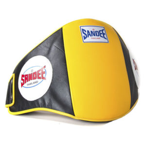 Sandee Leather Belly Pad – Yellow/Black