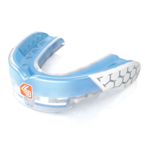 Shock Doctor Gel Max Power Adults & Junior Mouthguard – Transparent Blue