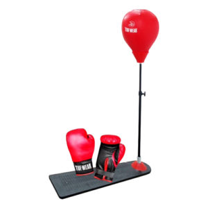 Tuf-Wear Junior Punchball Stand With Gloves – Red/Black