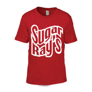 Sugar Ray's Junior T-Shirt with Large Logo – Red