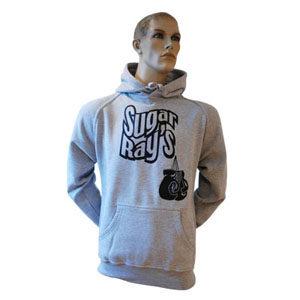Sugar Ray's Glove Logo Hooded Top Grey
