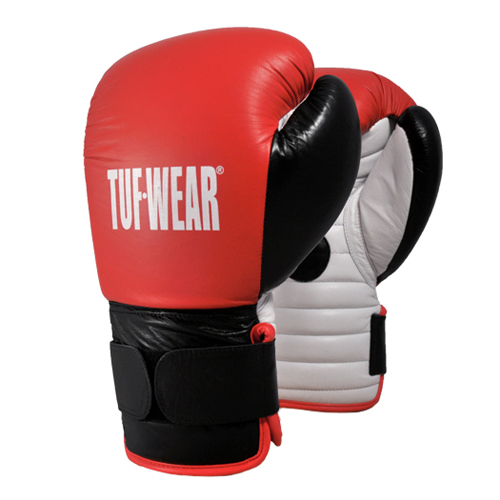 Tuf-Wear Leather Coach Spar Gloves – Red/Black