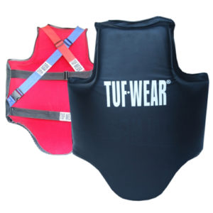 Tuf-Wear Ultimate Coaching Body Protector – Black/Red